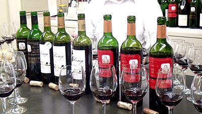 厳選なるワインの試飲