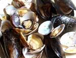 アサリとムール貝のシャブリ蒸し