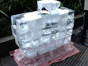 大きな氷塊