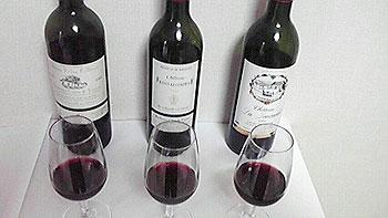 ワイン3種類の色合い