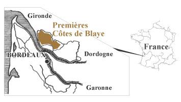プルミエール・コート・ド・ブライ地図