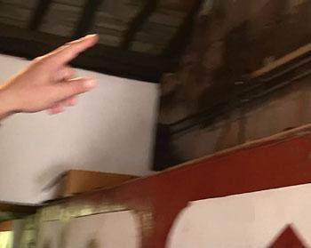 発酵槽の上に引かれているパイプ