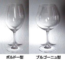 ボルドー型とブルゴーニュ型のグラス