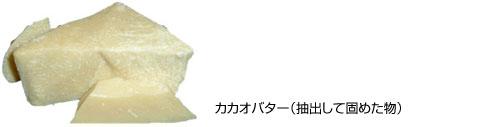 カカオバター(抽出して固めた物)