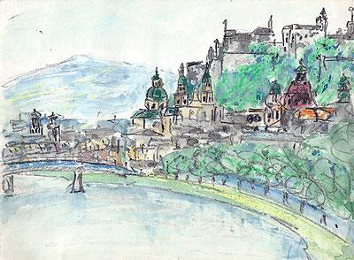 ザルツブルグ風景(1984年8月25日)