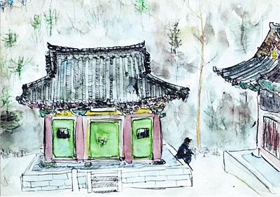 韓国・五台山上院寺にて