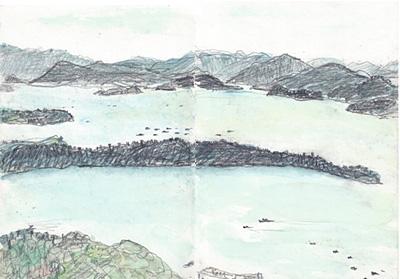 韓国・儒達山からの風景