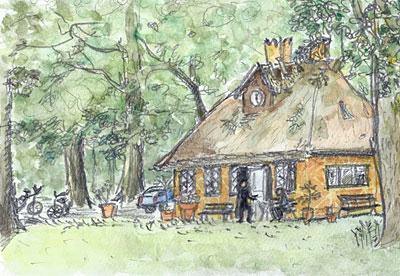 Den Gulle Cottage, Klampenborg (2011.8.21)