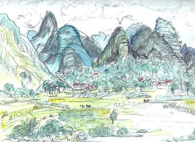 中国・漓江風景