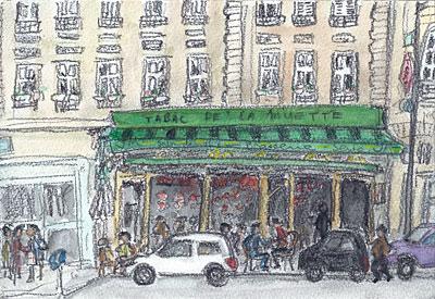 パリ、パシー通りにあるカフェー・バー