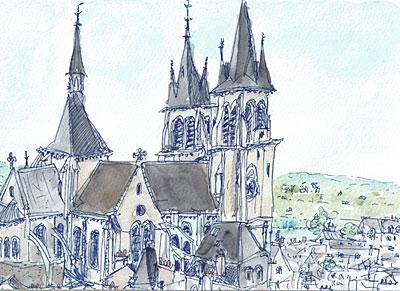 Blois 城からの風景(2010.8.15.)