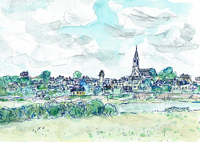ロワール河畔風景