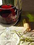 テラスで赤ワイン