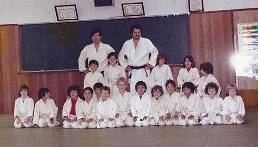 1978年 暁星学園の道場にて
